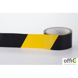Taśma ostrzegawcza BHP żółto-czarna 50mm x 33m samoprzylepna PVC TPV33/O33