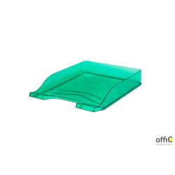 Półka na dokumenty przezroczysta zielona 100553684 BANTEX