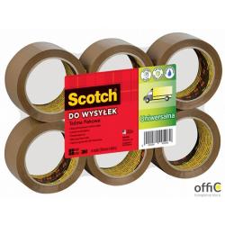 Taśma pakowa Scotch 371 Hot-melt brązowa 50x66m XX004803811