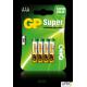 Baterie alkaliczna GP SUPER LR03/AAA (4szt) 1,5V GPPCA24AS013
