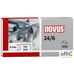 Zszywki NOVUS 24/6 DIN 1000szt. 040-0158