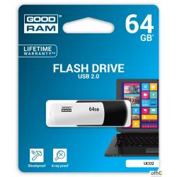 Pamięć USB GOODRAM 64GB UCO2 czarno-biały USB 2.0 UCO2-0640KWR11