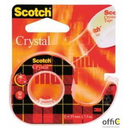 Taśma biurowa SCOTCH_ Crystal Clear (6-1975), transparentna, 19mm, 7, 5m