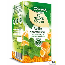 Herbata HERBAPOL ZIELNIK MELISA Z POMARAŃCZĄ 20t