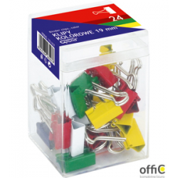 Klip 19mm mix kolorów plastikowe op.24szt GRAND 110-1637