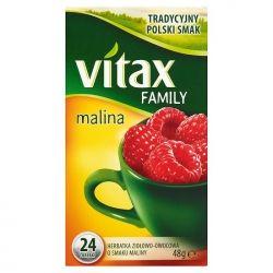 Herbata VITAX FAMILY MALINA (24 saszetek) bez zawieszki