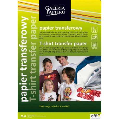 Papier A4 5 ark 260505 transf.do tkanin jasny ARGO