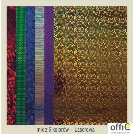 Karton A2 250gr.holographic-laser  mix (24) CORMORAN *7832