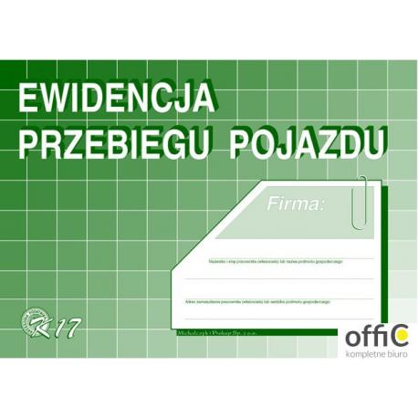 K17 Ewidencja przebiegu pojazdu (bez kosztów) A5 Michalczyk i Prokop