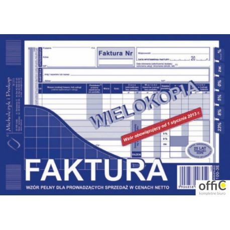 100-3E Faktura VAT A5 wielokopia MICHALCZYK i PROKOP
