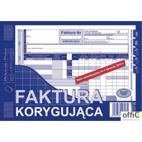 107-3E Faktura VAT korygująca MICHALCZYK&PROKOP A5 80 kartek