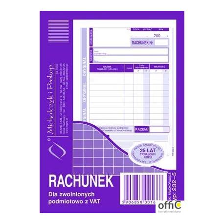 232-5 Rachunek MICHALCZYK&PROKOP A6 (pion) 80 kartek