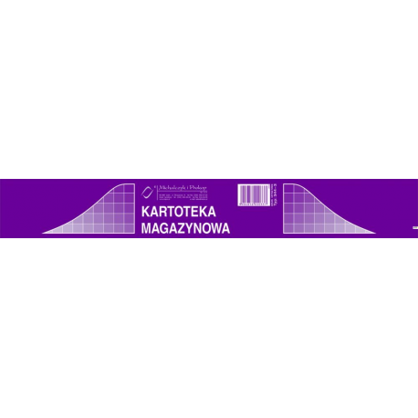 344-3 Kartoteka magazynowa MICHALCZYK&PROKOP A5 50 kartek