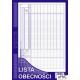 506-1 Lista obecności MICHALCZYK&PROKOP A4 40 kartek