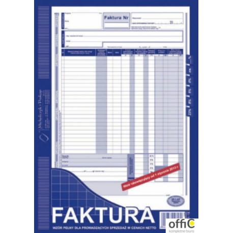 101-1E Faktura VAT MICHALCZYK&PROKOP A4 80 kartek
