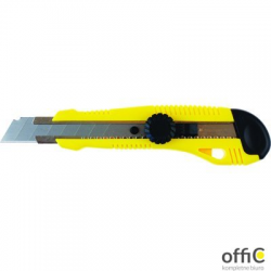 Nóż do papieru GRAND GR-64, niebieski, 18 mm, prowadnica GRAND 130-1658