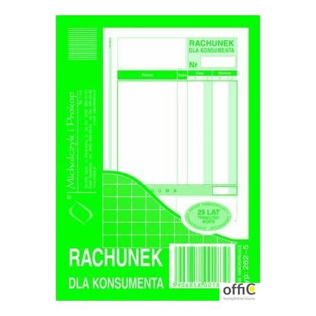 262-5 Rachunek dla konsumenta MICHALCZYK&PROKOP A6 80 kartek