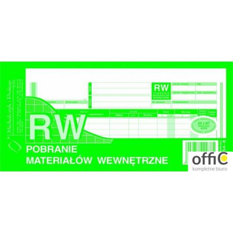 354-8 RW pobranie materiałów wewnętrzne 1/3A4 80 kartek MICHALCZYK