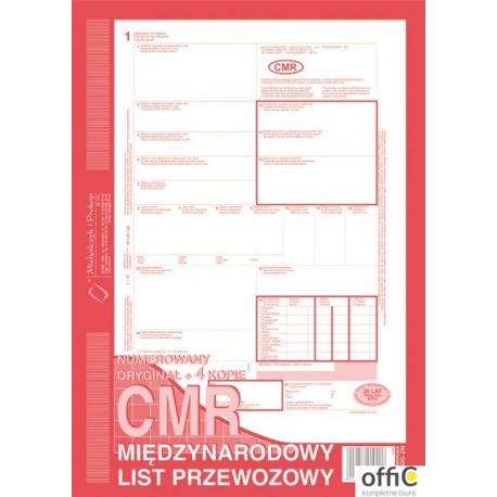 800-2 CMR A4 80kartek 1+4 międzynarodowy list przewozowy MICHALCZYK