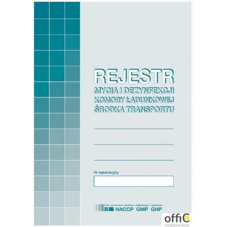 H-91-3 Rejestr mycia i dezynfekcji komory ładunkowej MICHALCZYK