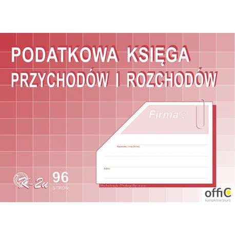 K-2U Podatkowa księga przychodów i rozchodów A4 offset MICHALCZYKiPROKOP