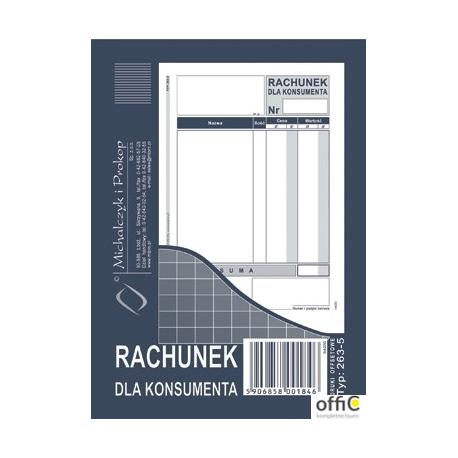 263-5 Rachunek dla konsumenta A6 offset MICHALCZYK&PROKOP