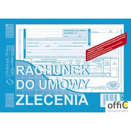 511-3R Rachunek do umowy zlecenia A5 (o+1k) MICHALCZYK&PROKOP