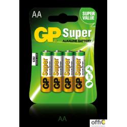 Baterie alkaliczna GP SUPER LR6/AA (4szt) 1,5V GPPCA15AS015
