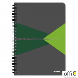Kołonotatnik OFFICE A5 kratka zielony 44580055 LEITZ