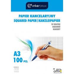 Papier kancelar.A3 kratka(100) INTERDRUK