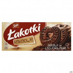 Ciastka SAN ŁAKOTKI KAKAO 168g