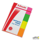 Zakładki samoprzlepne ESSELTE neon (4x50 kartek) 20x50mm 4 kolory 83019