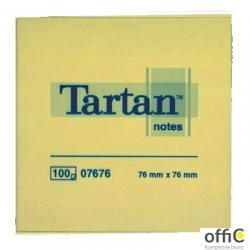 Bloczek TARTAN 76x76 żółte 100kartek 07676 3M