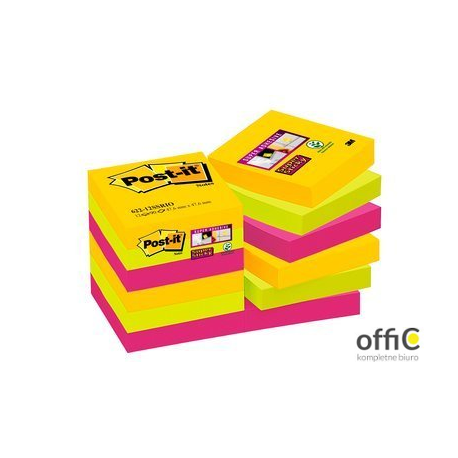 Bloczki 3M POST-IT 47.6x47.6mm RIO 12x90k Super Sticky 70005271518
