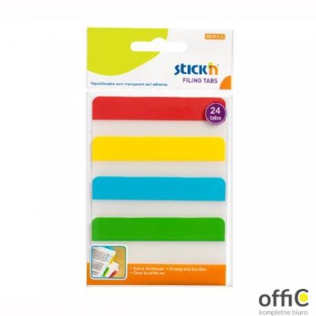 """Przekładki indeksujące przeźroczyste 38x76mm 4 kolory STICK""""N 21609"""