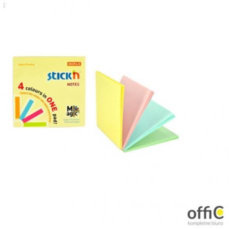 """Bloczek STICK""""N MAGIC PAD 76x76mm pastel mix kolorów 21574"""