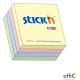 """Bloczek STICK""""N 76x76mm 400k mix 4 kolory pastelowe 21013"""