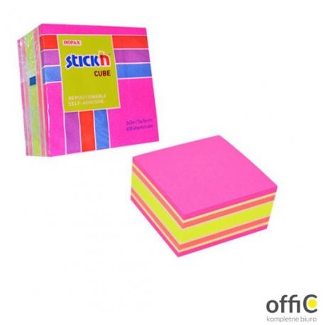 """Bloczek STICK""""N 76x76mm 400k mix różowy/żółty 21536"""