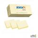 """Bloczki STICK""""N 38x51mm żółty pastele 12bloczków x 100 kartek 21530"""