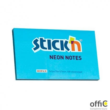 "Bloczek STICK""N 127x76mm niebieski neonowy 100k 21100k 213 STICK""N"