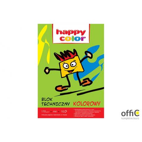 Blok techniczny kolor 170g A4 HAPPY COLOR 3550 2030-09