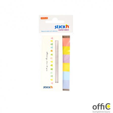 """Zakładki papierowe 45x15mm 6 kolorów CANDY 180 kartek STICK""""N"""
