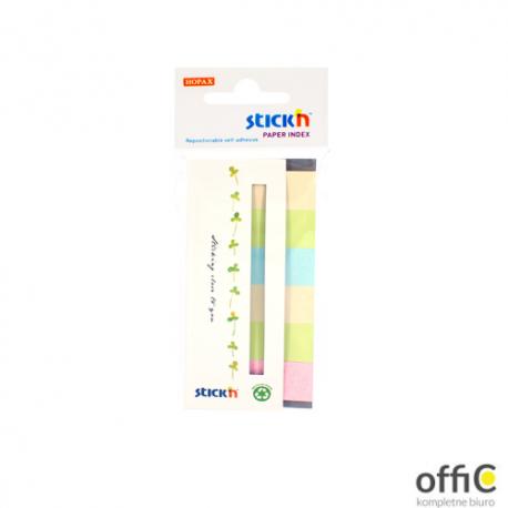 Zakładki papierowe 45x15mm 6 kolorów ECO 180 kartek STICKN