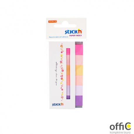 """Zakładki papierowe 45x15mm 6 kolorów SPRING 180 kartek STICK""""N"""