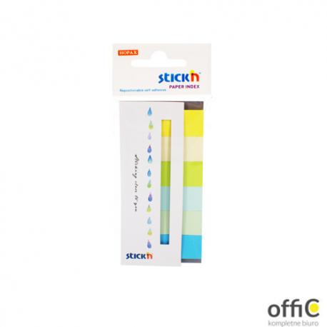 """Zakładki papierowe 45x15mm 6 kolorów SUMMER 180 kartek STICK""""N"""