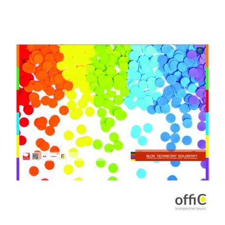 Blok techniczny kolorowy A4 INTERDRUK