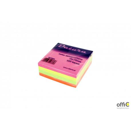 Kostka samoprzylepna DATURA 75x75 320 kartek intensywna (NSKI/D)