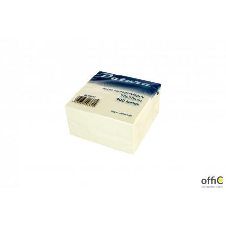 Kostka samoprzylepna DATURA 75x75 400 kartek żółta (NSKZ/D)