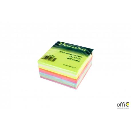 Kostka samoprzylepna DATURA 75x75 400 kartek tęczowa (NSKT/D)