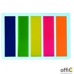 Zakładka indeksująca DOTTS 45x12 5x25kartek neonowa prosta